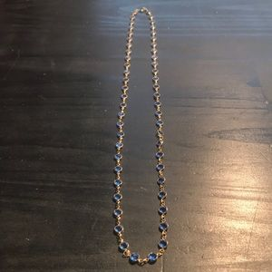 Vintage Swarovski Crystal goldtone/blue necklace